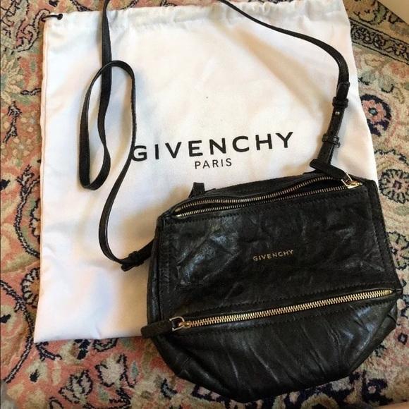 b53ade9d600c Givenchy Handbags - GIVENCHY Black Mini Pepe Pandora Crossbody Bag